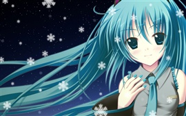Preview wallpaper Blue hair anime girl