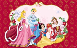 Preview wallpaper Christmas party princesses