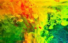 Preview wallpaper Colorful paint fumes