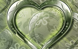 Crystal green love heart