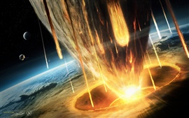 Preview wallpaper Earth asteroid doomsday