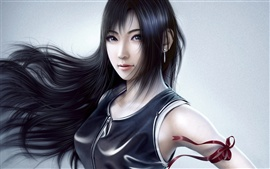 Preview wallpaper Fantasy girl black hair