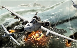 Preview wallpaper HAWX game planes