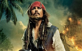 Preview wallpaper Johnny Depp Jack Sparrow Pirates of the Caribbean