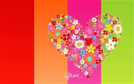 Preview wallpaper Love heart background