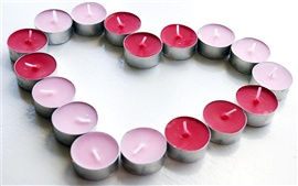 Love heart-shaped candle
