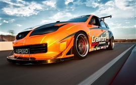Aperçu fond d'écran Speed ​​Car orange