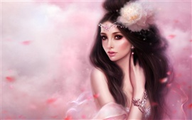 Preview wallpaper Pink fantasy girl