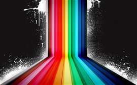 Arco iris de colores spray