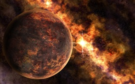 Preview wallpaper Red Planet and Space