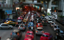 Preview wallpaper Street car traffic jam
