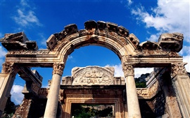 Temple of Hadrian in Turkey Wallpapers Pictures Photos Images