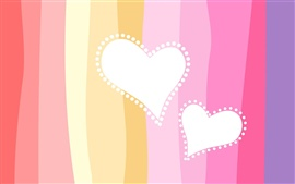 Preview wallpaper Two heart-shaped love