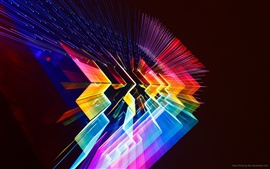 Preview wallpaper 3D colorful light space