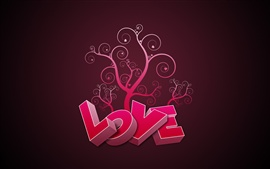 Preview wallpaper 3D pink Love