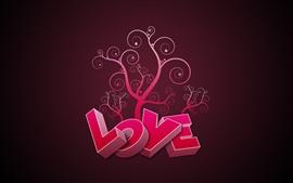 3D rosa Amor