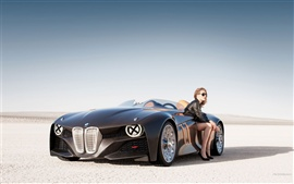 BMW Car Preto fresco