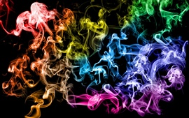 Colored smoke rings