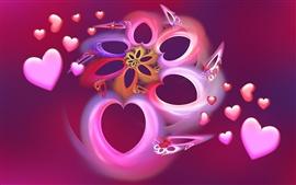 Aperçu fond d'écran Rêve d'amour de coeur
