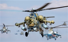 Preview wallpaper Flying military helicopters