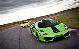 Preview wallpaper Green and yellow Lamborghini