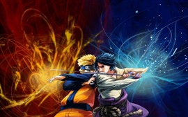 Aperçu fond d'écran Naruto vs Sasuke