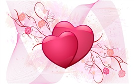Preview wallpaper Pink love heart