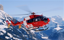 Preview wallpaper Switzerland mountain helicopter