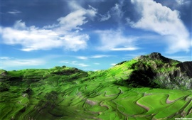 Preview wallpaper The green hill and dale