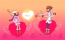 Preview wallpaper A boy and a girl's love heart
