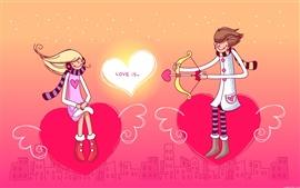 Un niño y corazón de una chica el amor