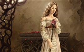 Blonde girl holding a magic wand Wallpapers Pictures Photos Images