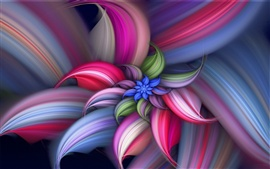 Preview wallpaper Colorful abstract beautiful flower
