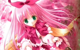 Preview wallpaper Cute pink hair anime girl