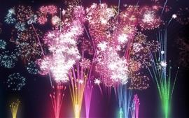 Aperçu fond d'écran festival de feux d'artifice