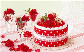 壁紙のプレビュー お祝いのケーキ