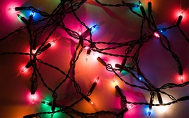 Festive colored lights