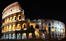 Italy Rome colosseum night