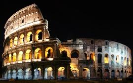 Italia Roma Coliseo noche