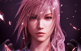 Preview wallpaper Purple Hair Girl in Final Fantasy XIII