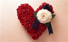 Aperçu fond d'écran Rose coeur d'amour