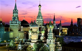 Preview wallpaper Russia Moscow night