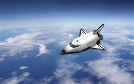 Preview wallpaper Space shuttle flying over the Earth