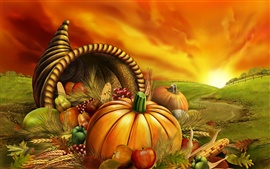 Preview wallpaper Thanksgiving food
