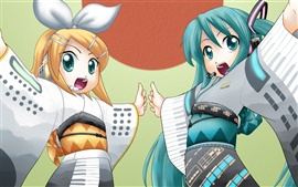 Preview wallpaper Two girls in Hatsune Future