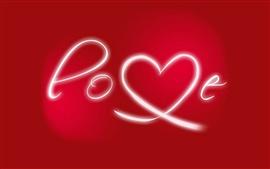 Aperçu fond d'écran Valentine jour aiment le rouge