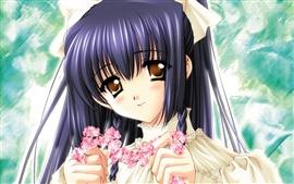 Vorschau des Hintergrundbilder Anime Mädchen mit Girlanden
