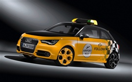 Audi yellow police car