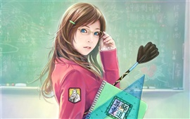 Preview wallpaper Beautiful female teacher