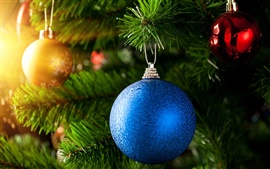 Preview wallpaper Blue Christmas ball